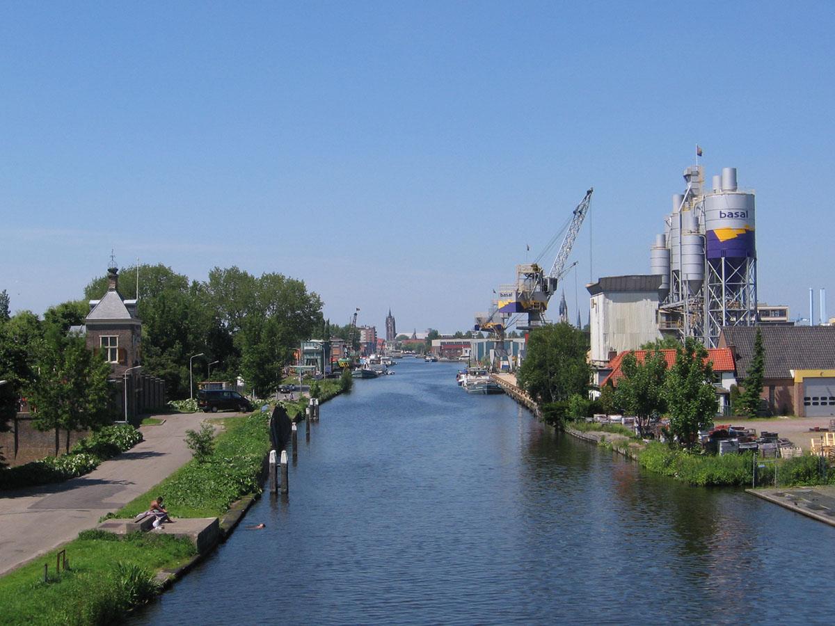 View of the Delftse Schie