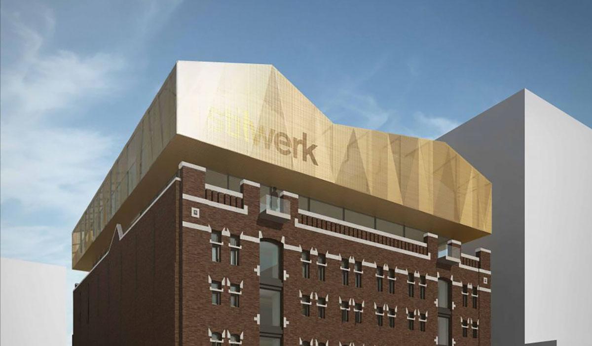 Herontwikkeling pakhuis Santos op Katendrecht in Rotterdam © WDJA Architecten